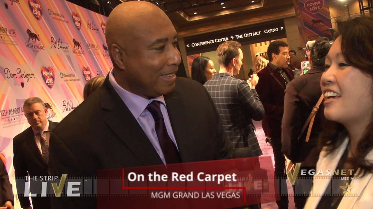 Bernie Williams (with Maria Ngo) on THE STRIP LIVE for VegasNET media