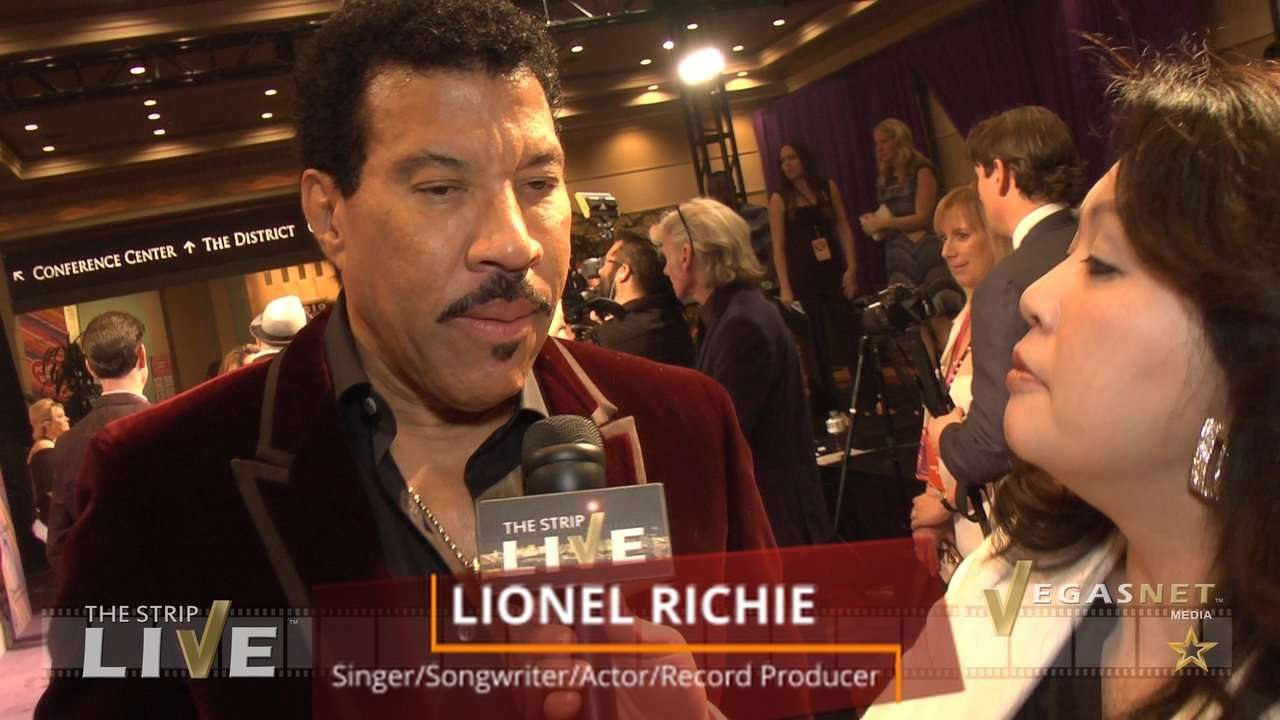 Lionel Richie (with Maria Ngo & Ray DuGray) on THE STRIP LIVE for VegasNETmedia.com