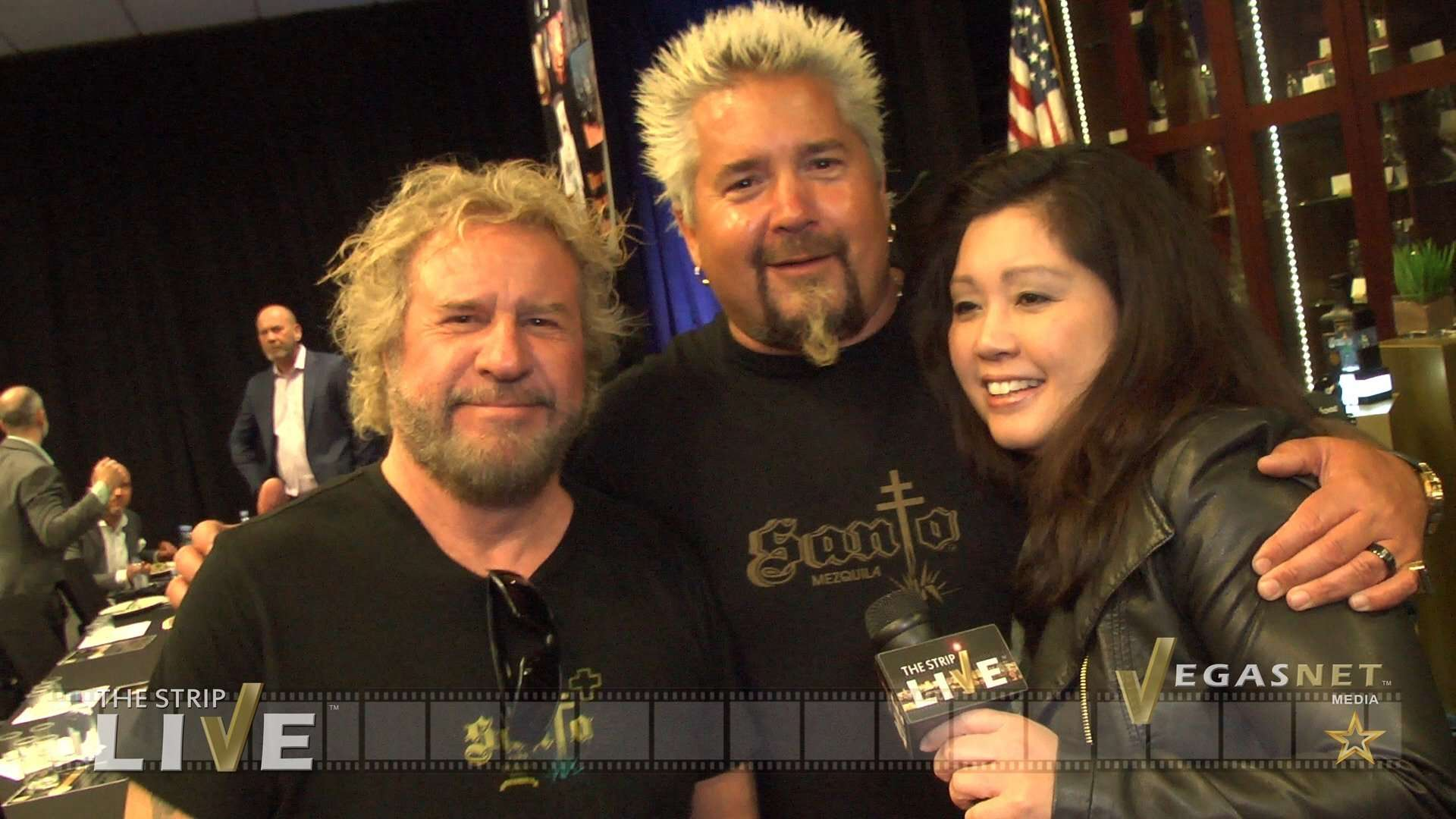 Sammy Hagar, Guy Fieri (with Maria Ngo & Ray DuGray) on THE STRIP LIVE
