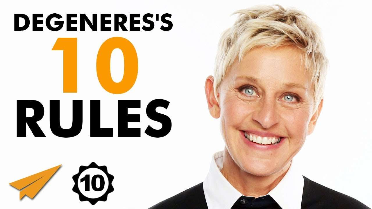 Ellen DeGeneres - Top 10 Rules For Success | VipNETmedia.com